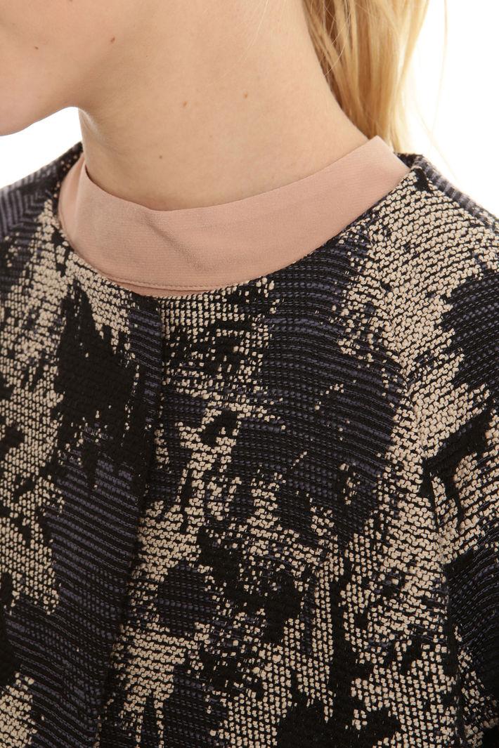 Spolverino jacquard con frange Fashion Market