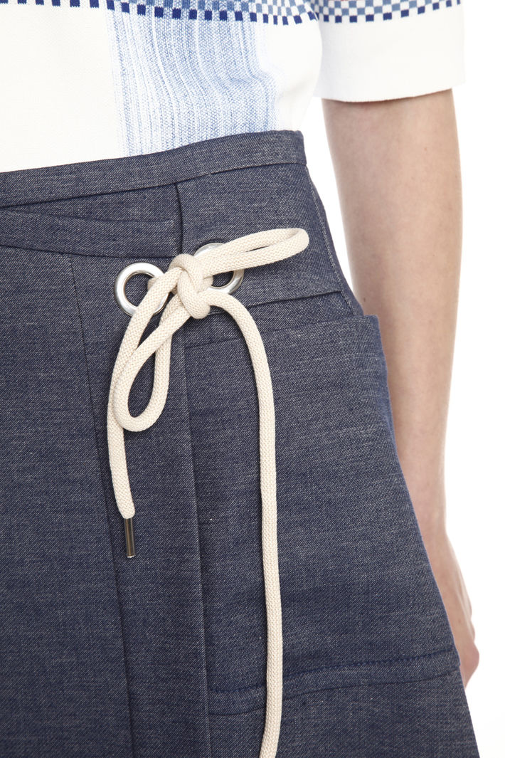 Gonna svasata effetto denim Fashion Market
