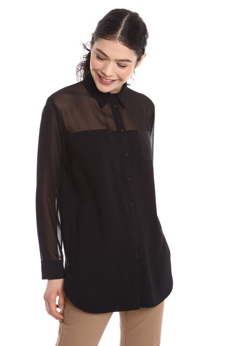 Camicia con carré trasparente Diffusione Tessile