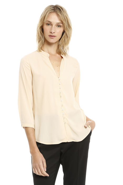 Camicia in crepe con bottoni Intrend