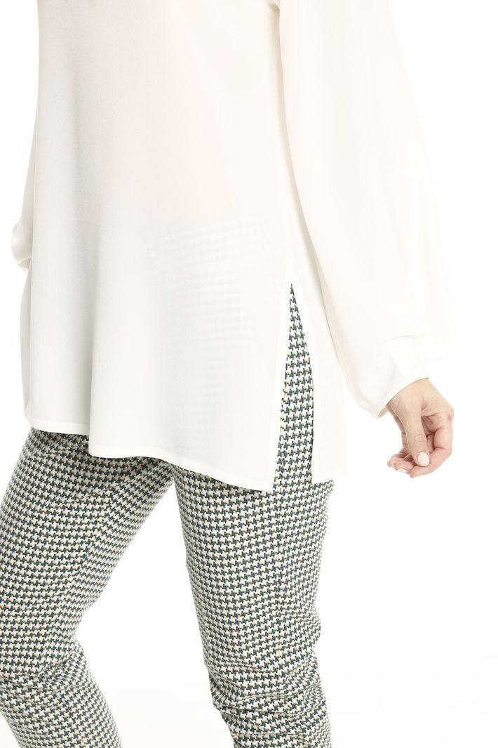 Blusa lunga in pura seta Fashion Market