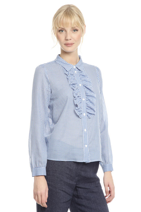 Camicia con rouches Diffusione Tessile