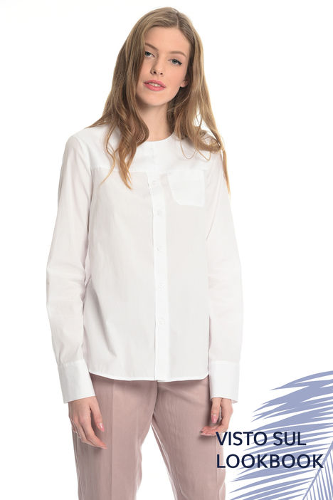 Camicia in popeline e piquet Intrend