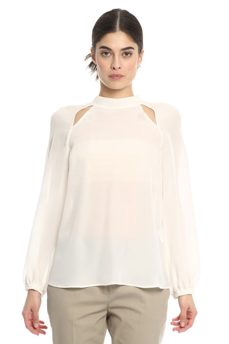 Blusa in seta con cut-out Diffusione Tessile