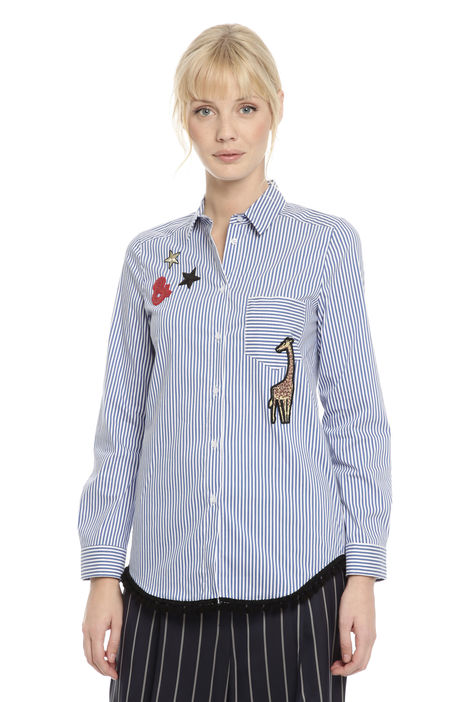 Camicia con patches Diffusione Tessile
