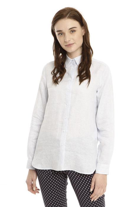 Camicia in lino rigato Diffusione Tessile