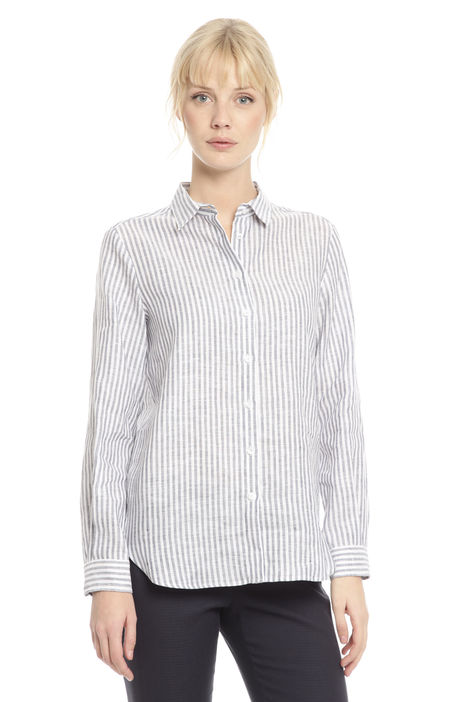 Camicia a righe in lino Intrend