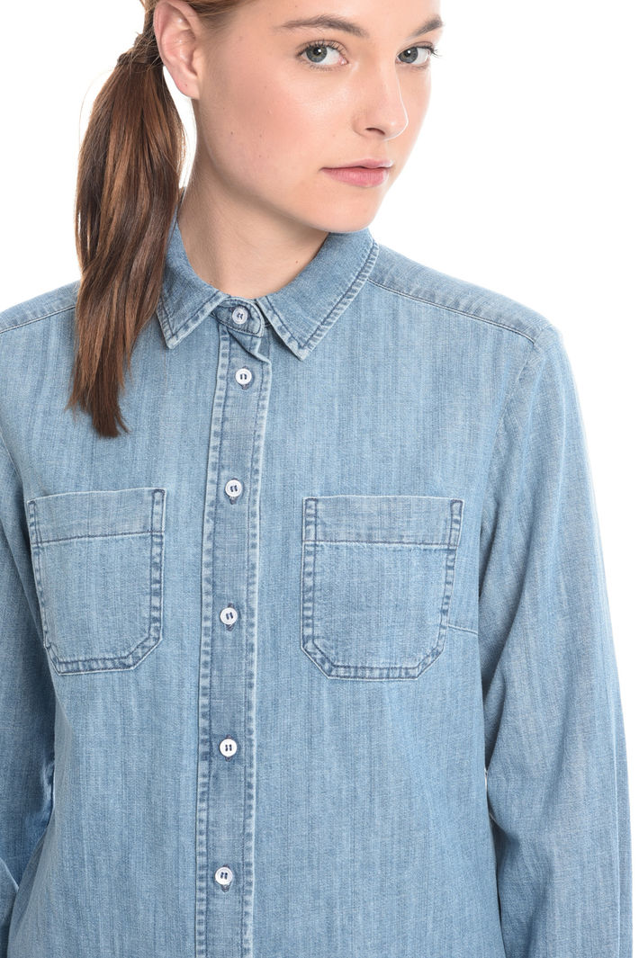 Camicia in denim di cotone Fashion Market