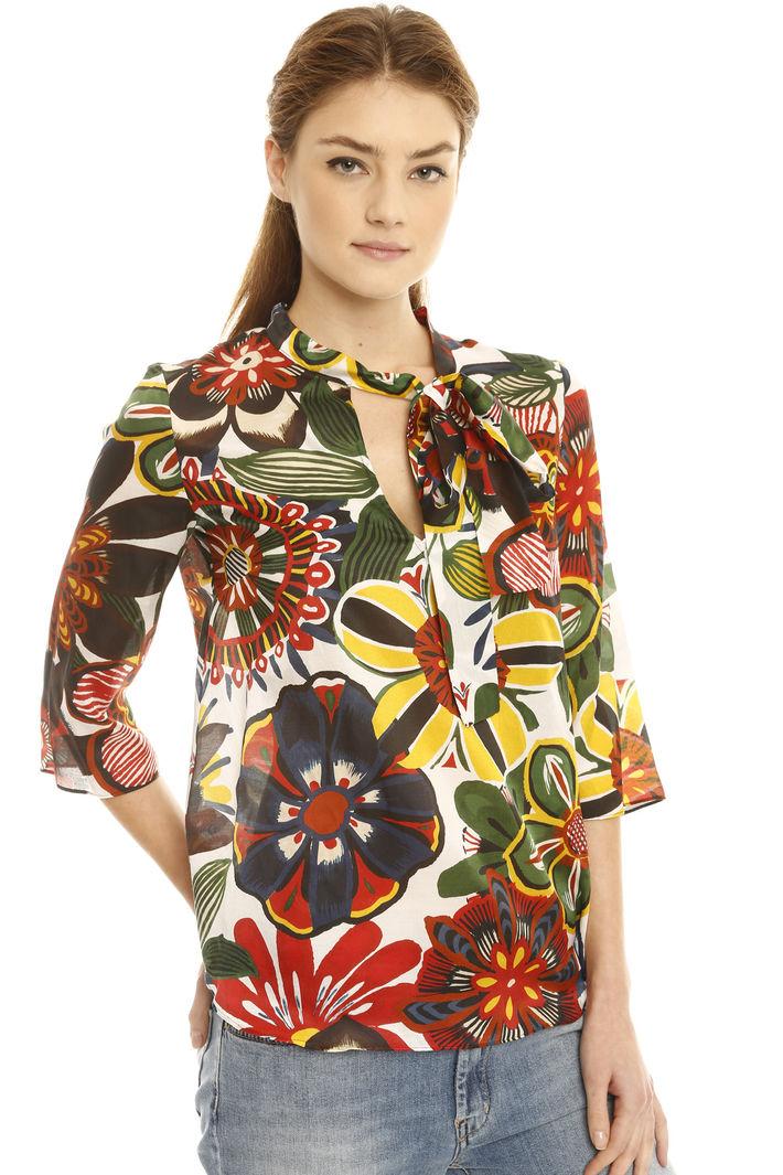 Blusa in raso di seta e cotone Fashion Market