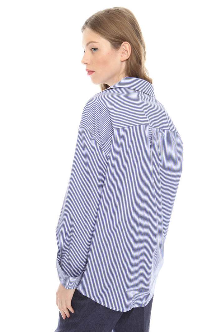 Camicia over in popeline di cotone Intrend