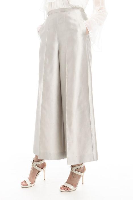 Pantalone cropped in shantung Diffusione Tessile