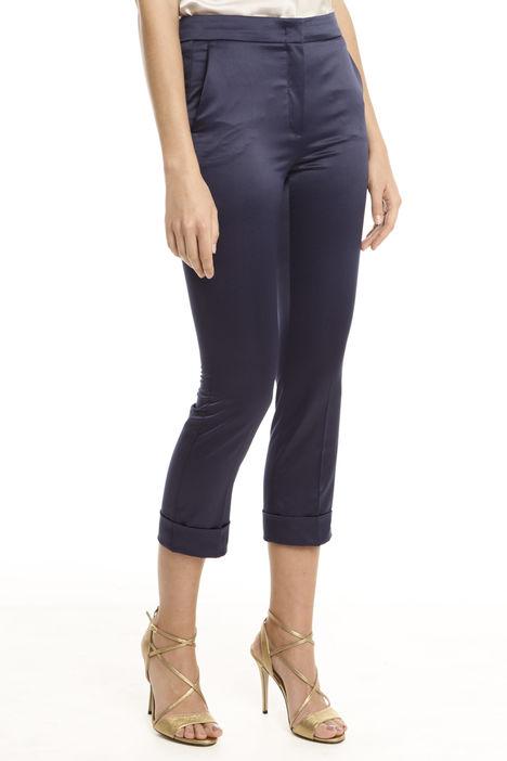 Pantaloni in raso con risvolto Intrend