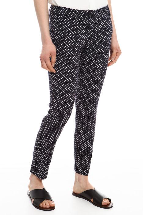 Pantalone in cotone fantasia Diffusione Tessile
