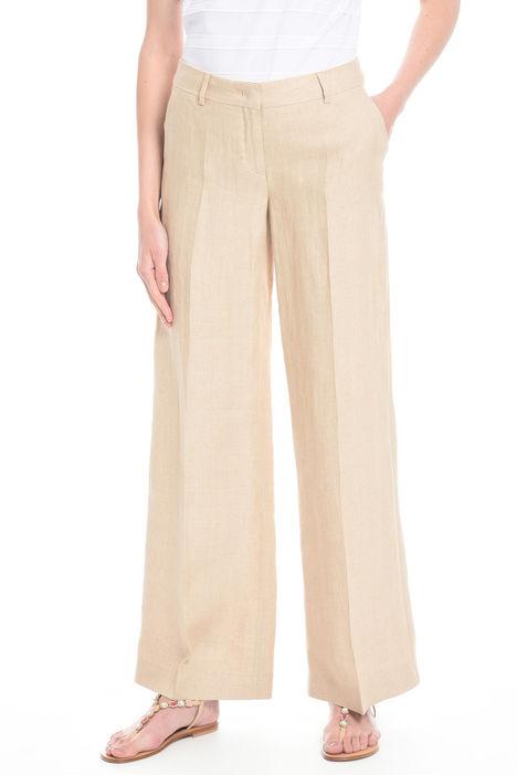 Pantaloni lunghi in puro lino Intrend