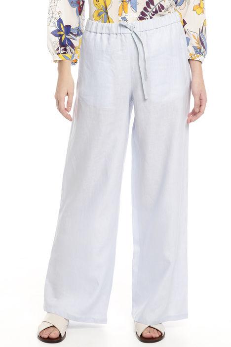 Pantaloni comfort in lino Diffusione Tessile