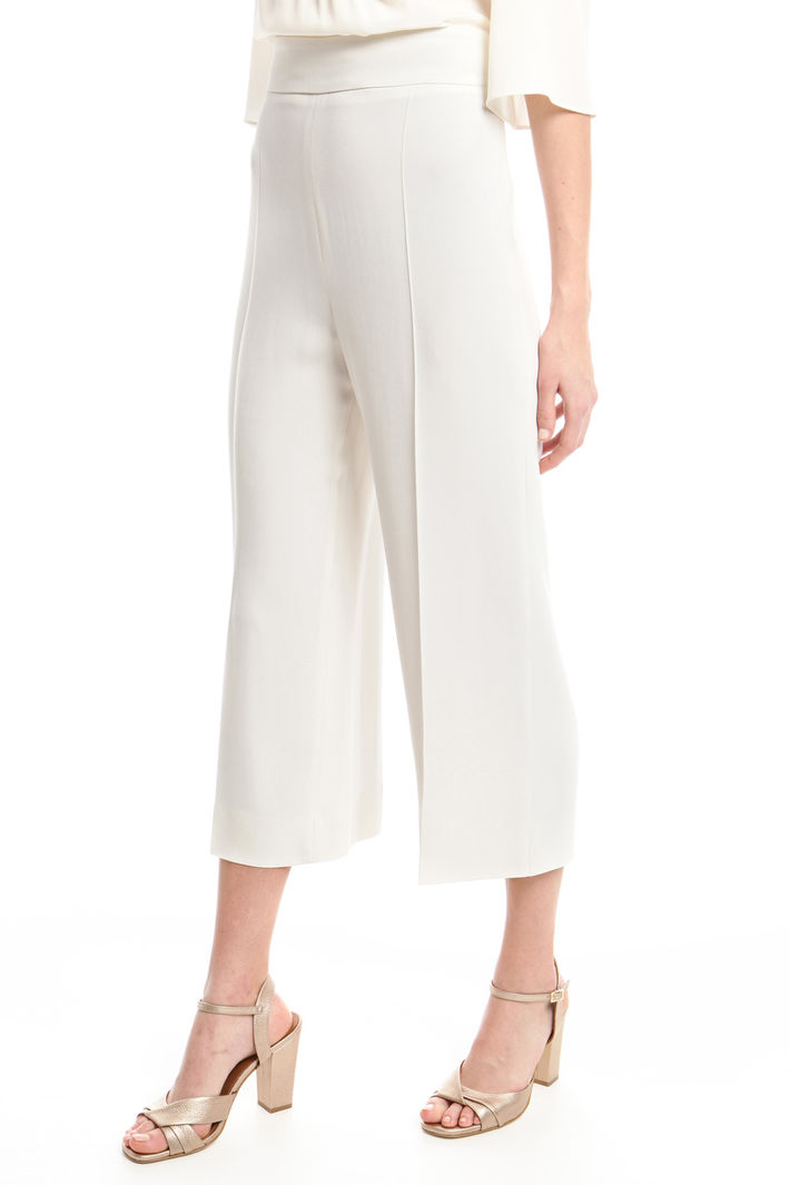 Pantaloni cropped in cady Diffusione Tessile