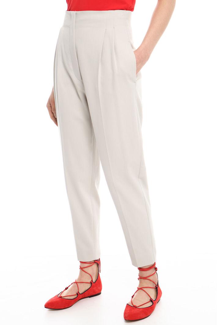 Pantalone lungo in gabardina Fashion Market