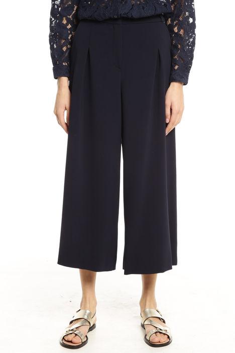 Pantaloni cropped con pieghe Diffusione Tessile
