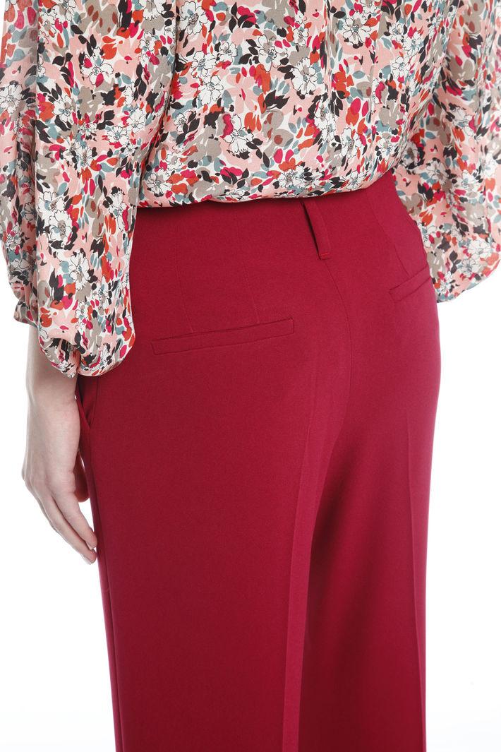 Pantalone cropped in cady Fashion Market