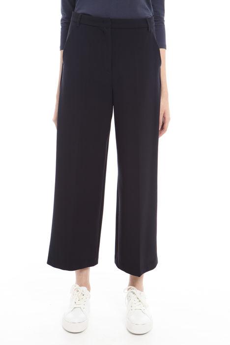 Pantalone cropped con piega Diffusione Tessile