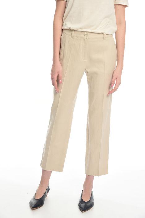 Pantalone dritto in misto lino Intrend