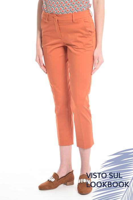 Pantaloni capri in cotone Intrend