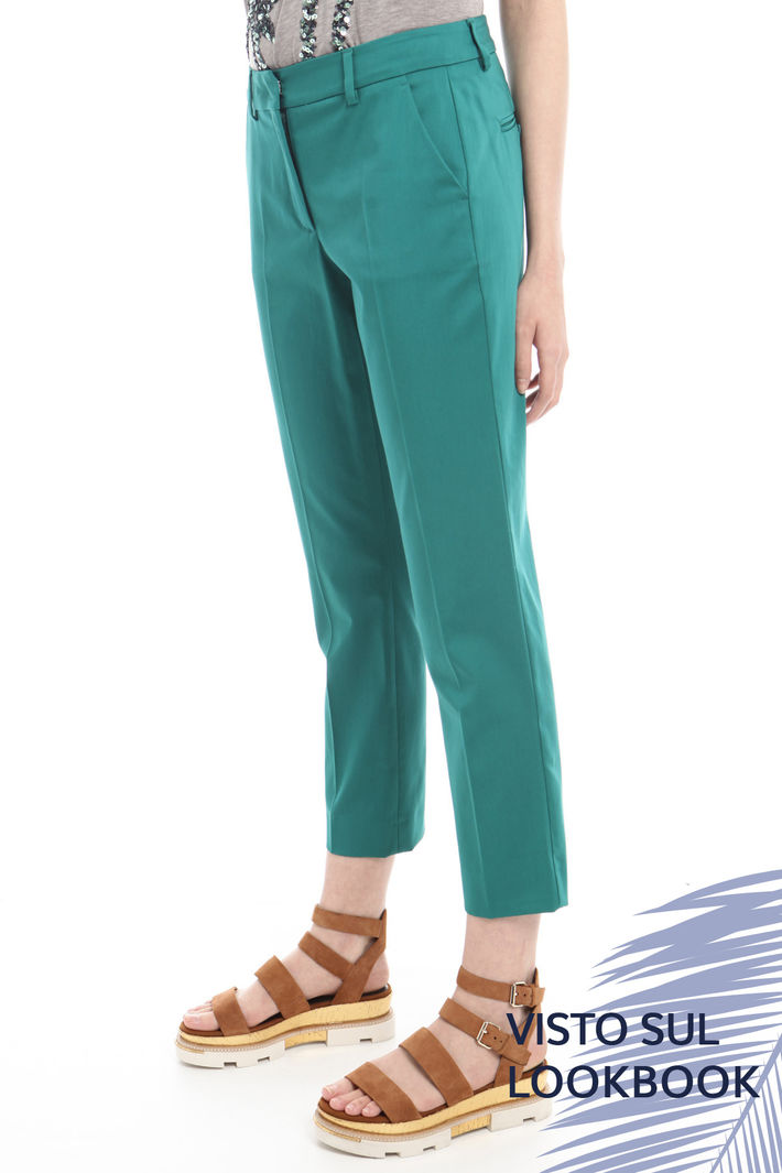 Pantaloni capri in cotone Diffusione Tessile