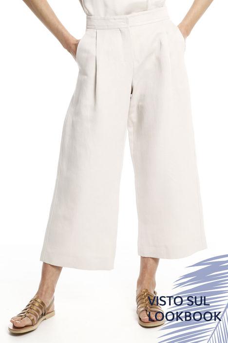 Pantaloni larghi in twill Intrend