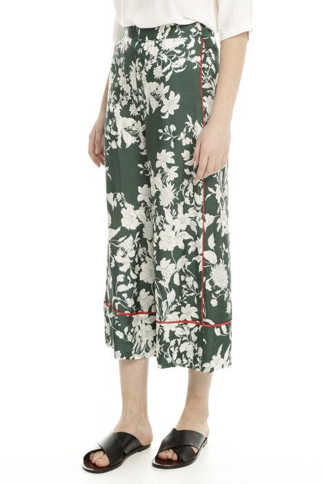 Pantaloni fluidi cropped Diffusione Tessile