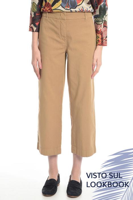 Pantalone in piquet di cotone Intrend