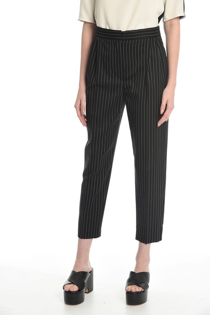 Pantalone gessato in lana Fashion Market
