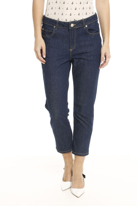 Jeans linea dritta cropped Diffusione Tessile