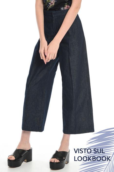Pantalone cropped in denim Intrend