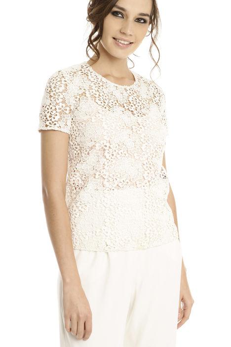 Blusa in macramé con top Diffusione Tessile