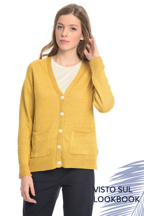 Cardigan in filato di lino Intrend