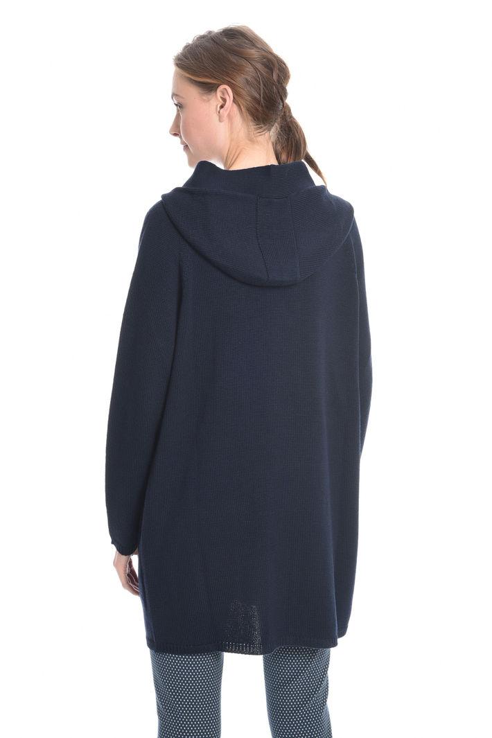 Cardigan lungo con cappuccio Fashion Market