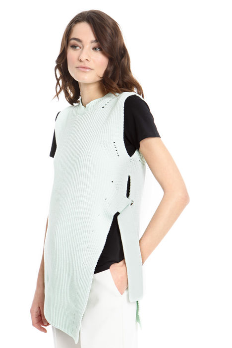 Gilet lungo in maglia Intrend