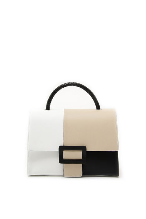 Borsa color block in pelle Diffusione Tessile