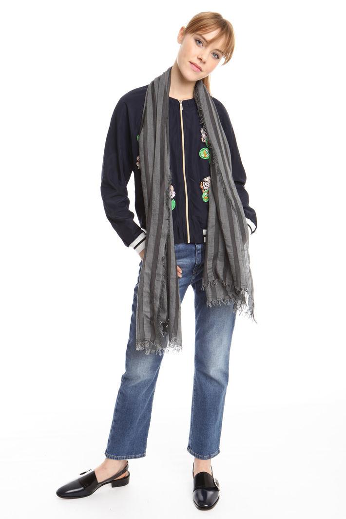 Sciarpa a righe in viscosa Fashion Market