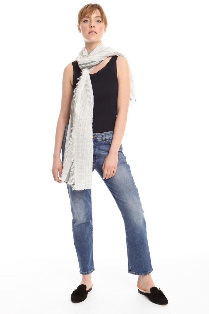 Sciarpa in lino misto cotone Fashion Market