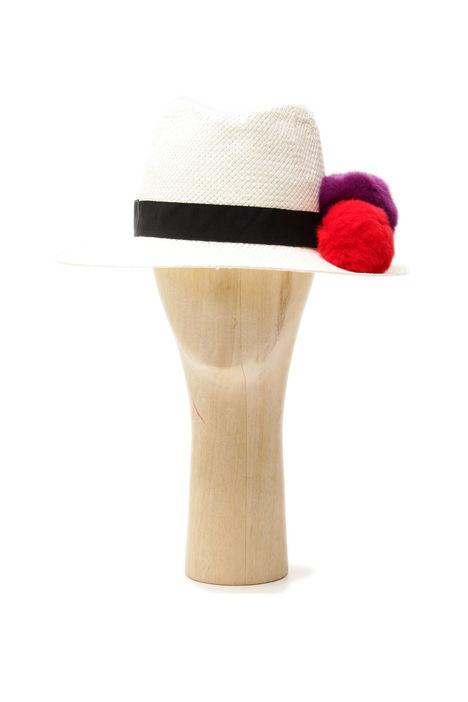 Fedora con pon pon multicolor Intrend