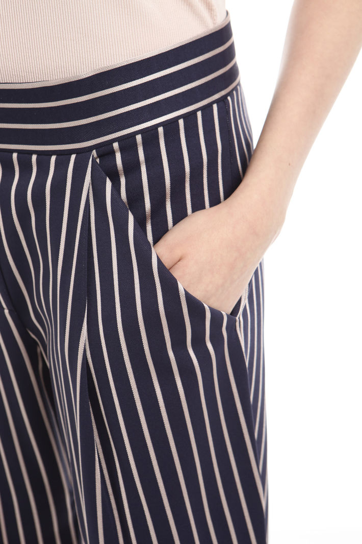 Pantalone gessato in jersey Fashion Market