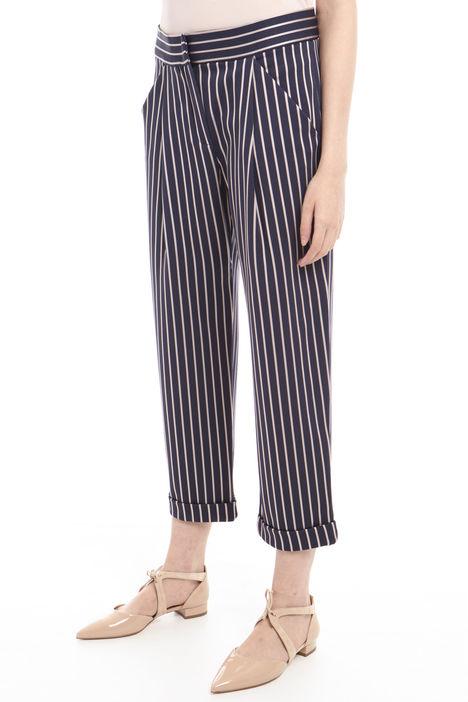 Pantalone gessato in jersey Diffusione Tessile
