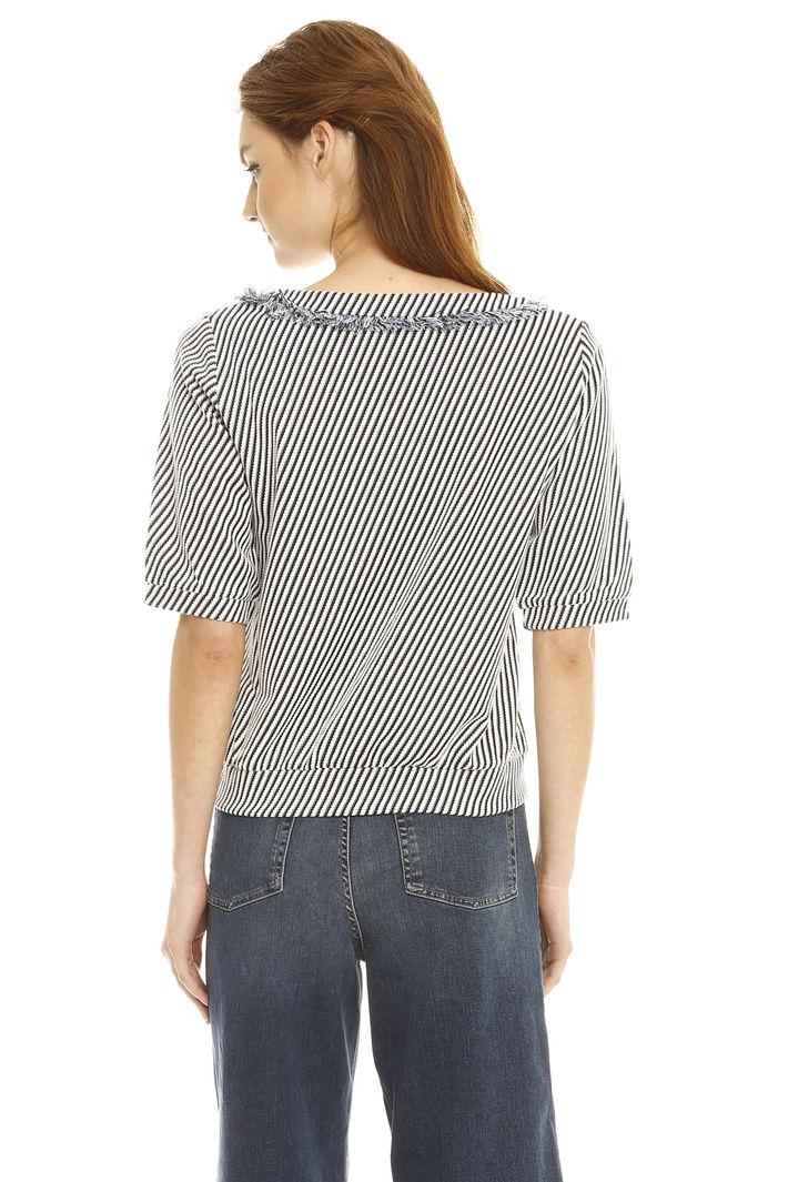 Felpa in jersey diagonale Fashion Market