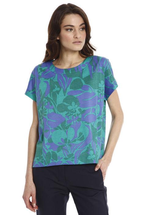 T-shirt boxy in cotone leggero Diffusione Tessile