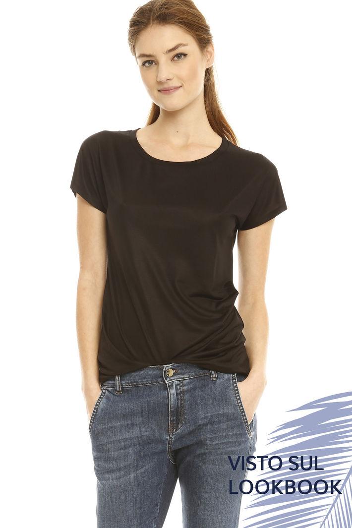 T-shirt in jersey di seta Intrend