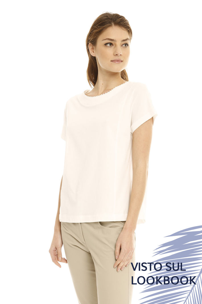 T-shirt con microperline Intrend