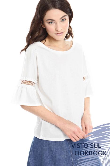 T-shirt con ricamo sulla manica Diffusione Tessile