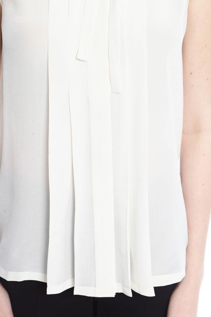 Top con motivo plissè Fashion Market