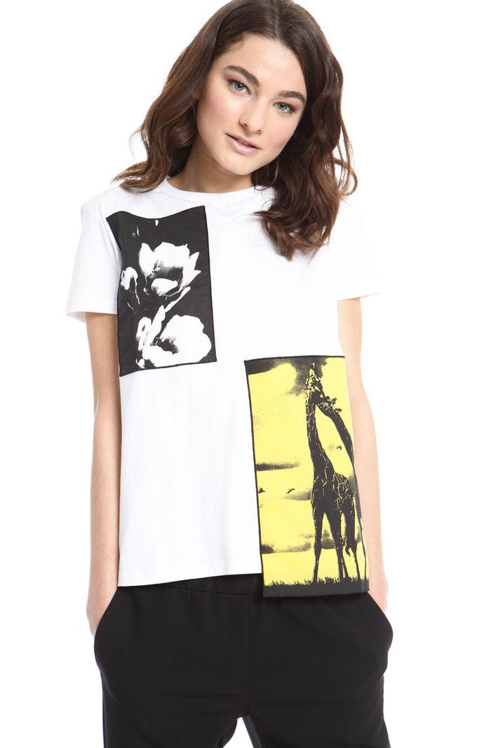 T-shirt con ricami applicati Intrend